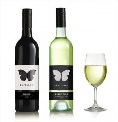'Papillion' Wine labels